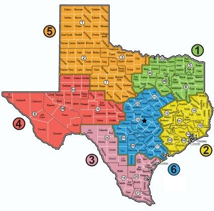 Map Of Texas 4 Regions.Emat Regions Map